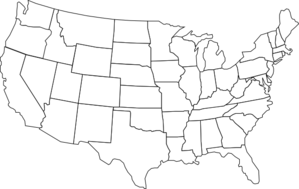 Black And White U.s. Map Clip Art at Clker.com.