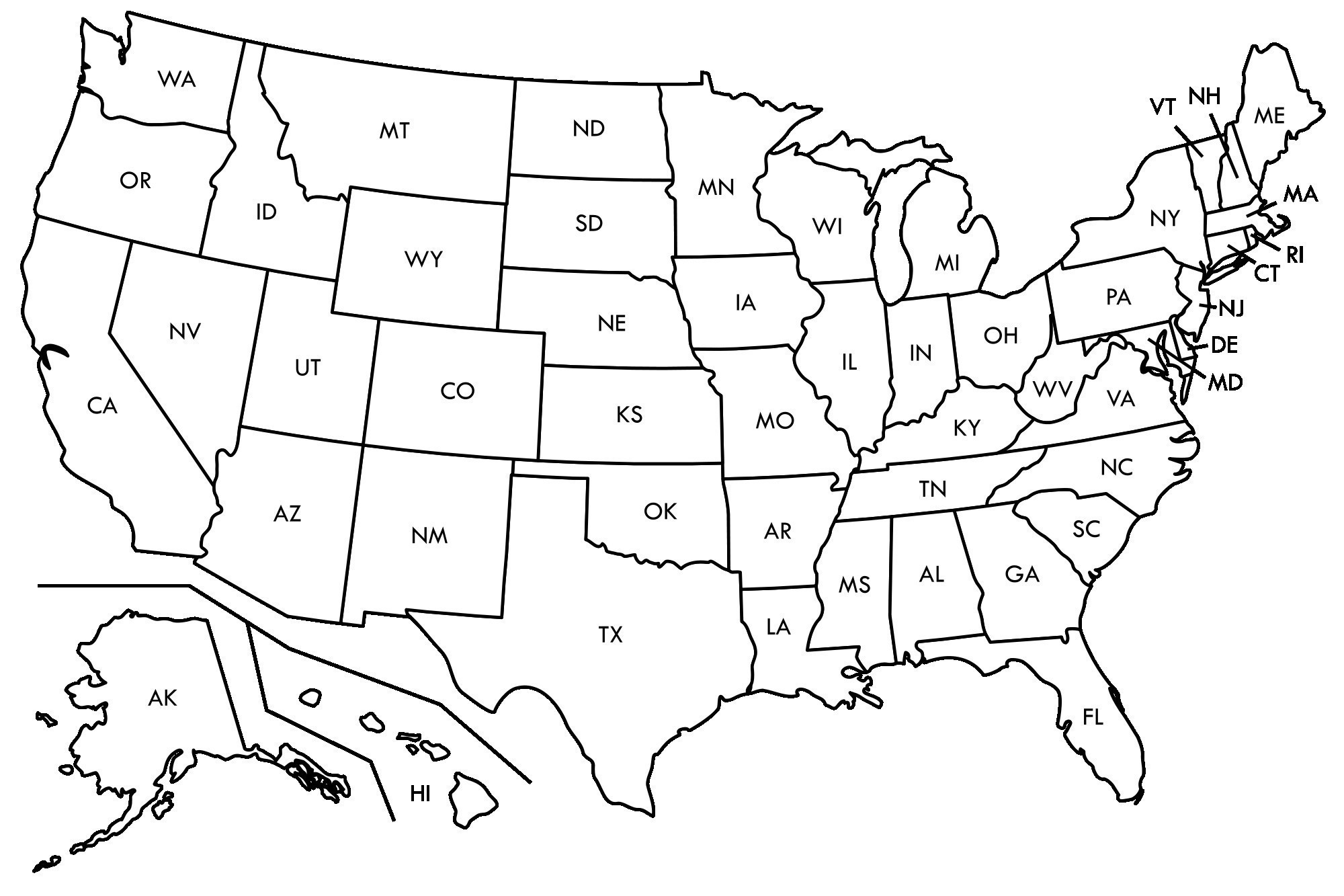 United states clipart black and white 2 » Clipart Station.