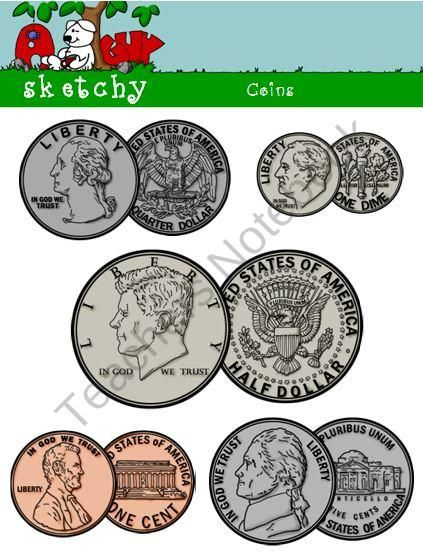 US Coin Clipart / Graphics Obverse / Reverse.