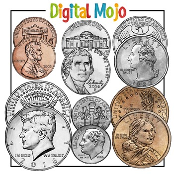 US Coin Clipart Money Clipart.