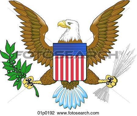 Us eagle Clipart Royalty Free. 382 us eagle clip art vector EPS.