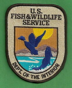 Details about U.S. FISH & WILDLIFE SERVICE DEPARTMENT OF THE INTERIOR  SHOULDER PATCH.