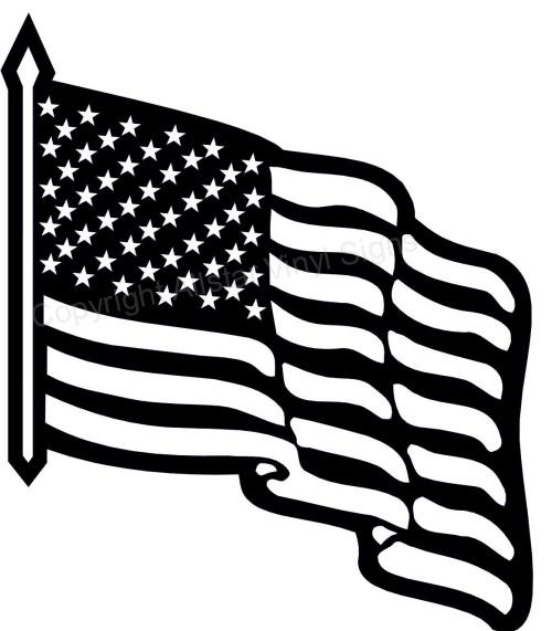 United States Flag Black And White Clipart.