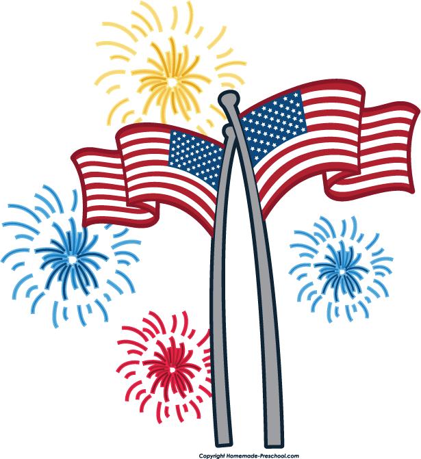 fireworks american flag.