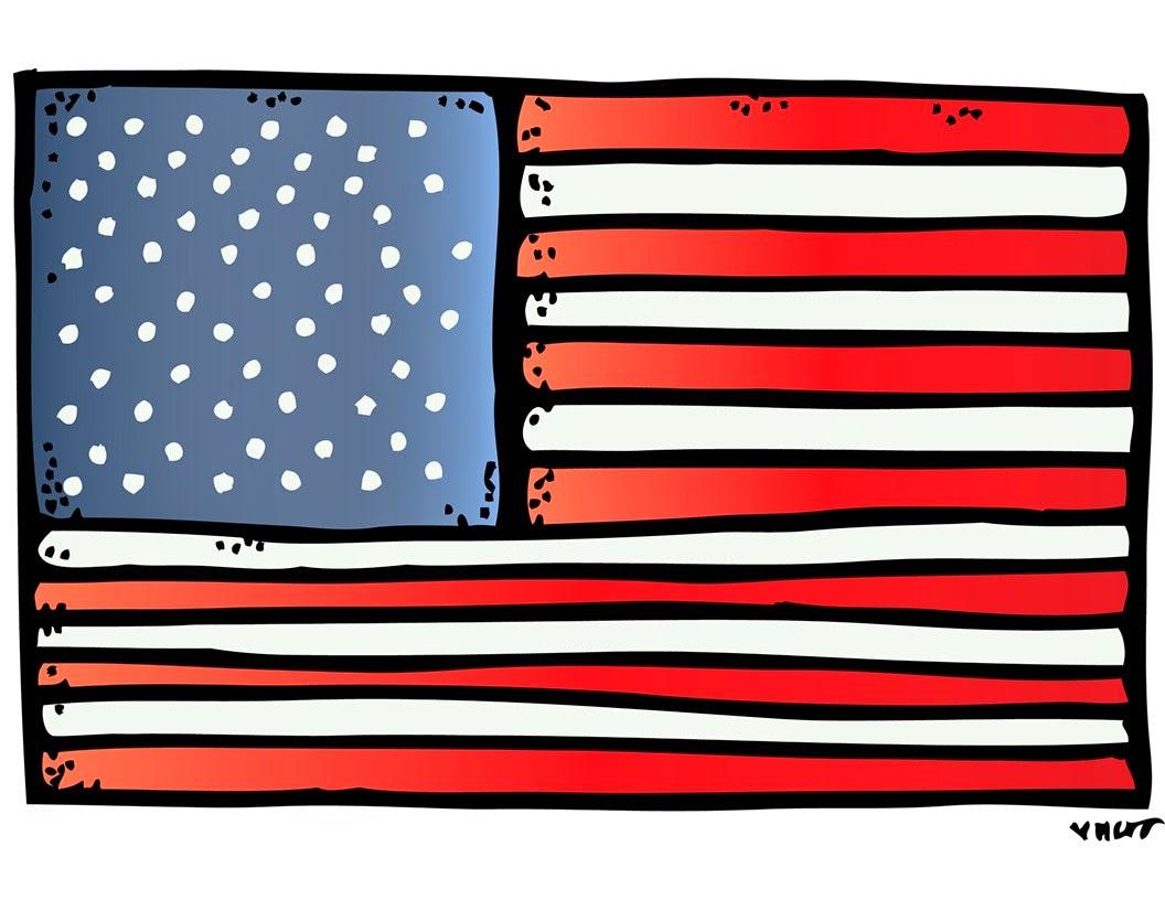 Us Flag Clipart Melonheadz.