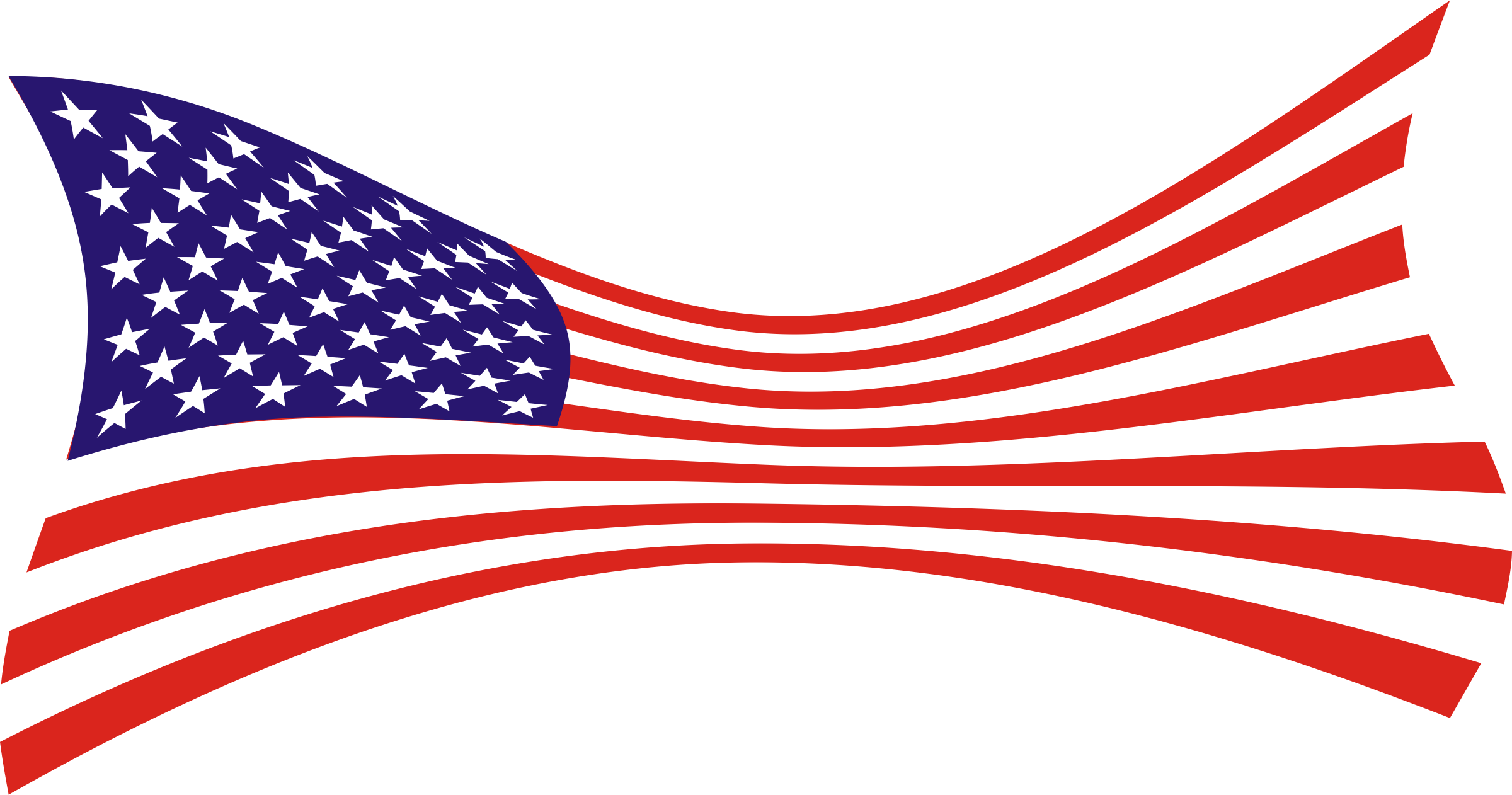 United States of America Flag of the United States Vector.