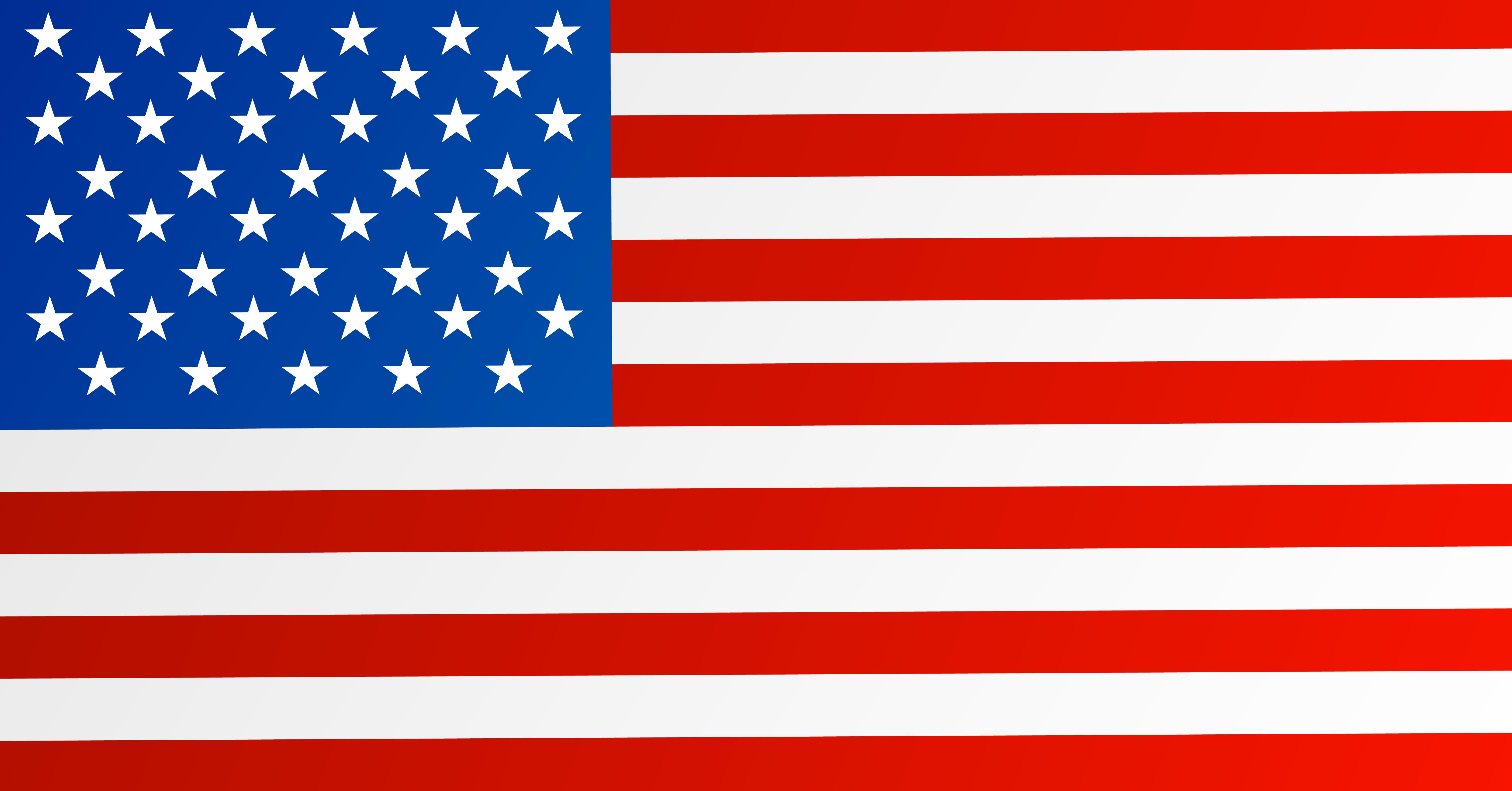 USA Flag PNG Clipart Image.