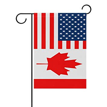 Amazon.com: LIDU Double Sided American Flag and Canada Flag.