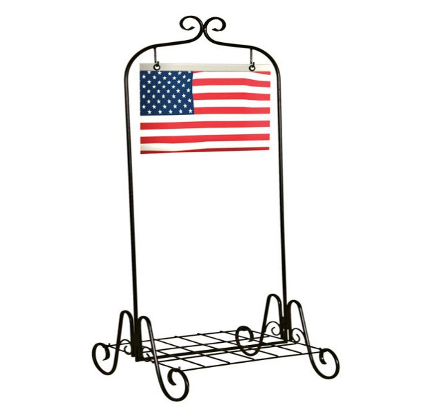 Panacea 88131 Plant Stand With US Flag, 36\