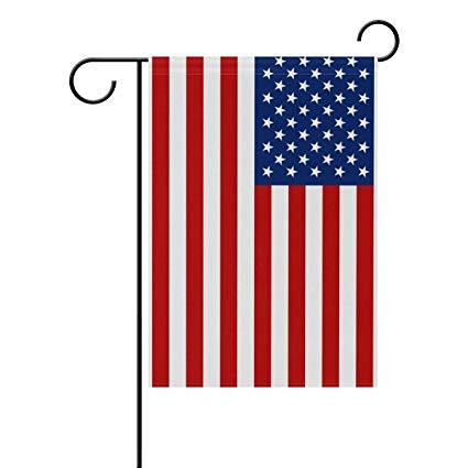 Amazon.com: LIDU American Flag Stars Stripes Garden Flag.