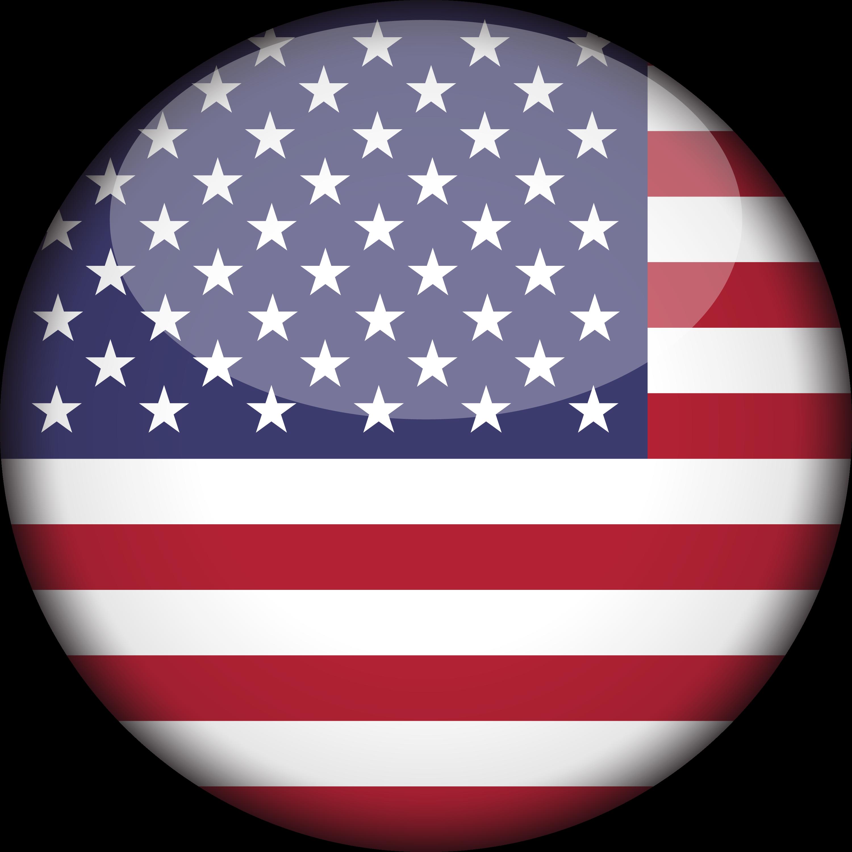 Clip Art United States Of America Flag 3d Round.
