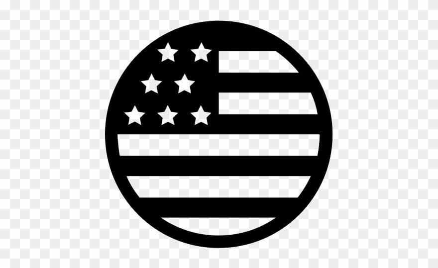 Usa Flag Icon Black And White Clipart (#476482).