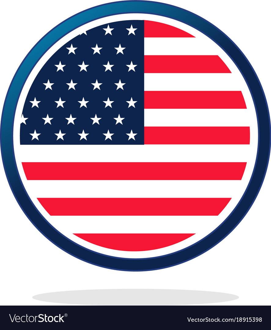 Usa flag circle logo.