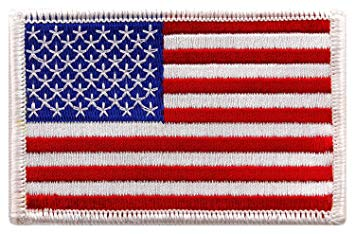 Pack of 3 USA US American Flag Logo Embroidered Patch Sew on Iron On  Applique 3.4\