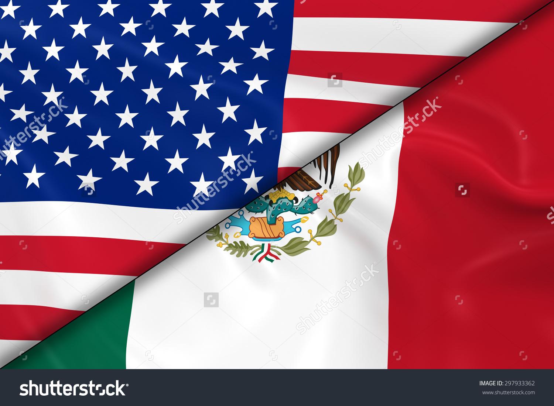 Similiar Mexican Flag And USA Flag Keywords.