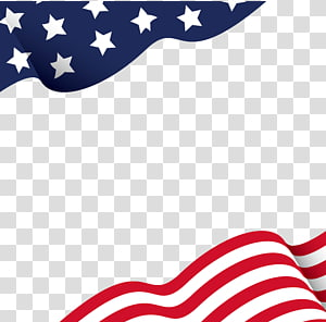 Flag of the United States Map , American Flag Page Border.