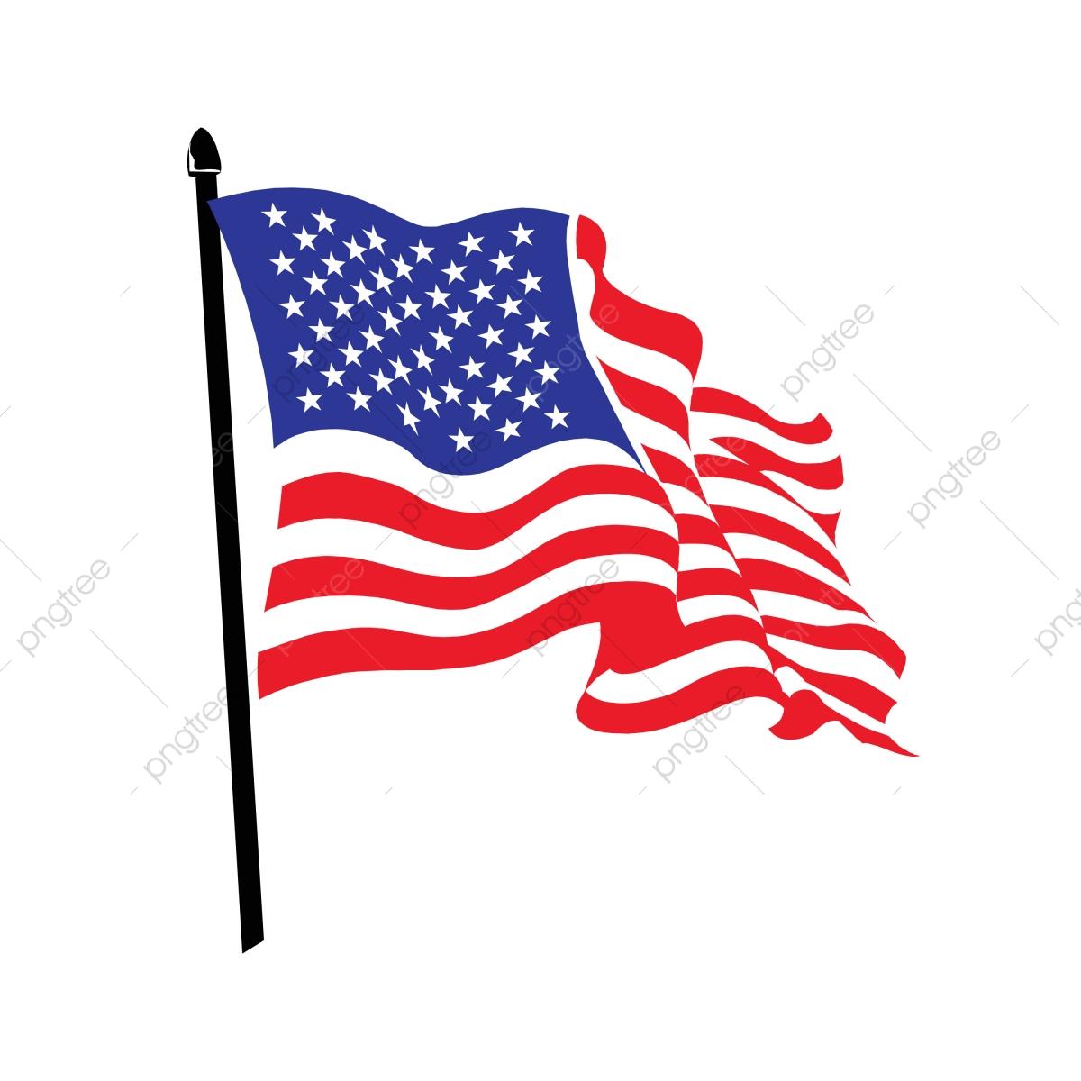 Waving American Flag Logo Design, America, American.
