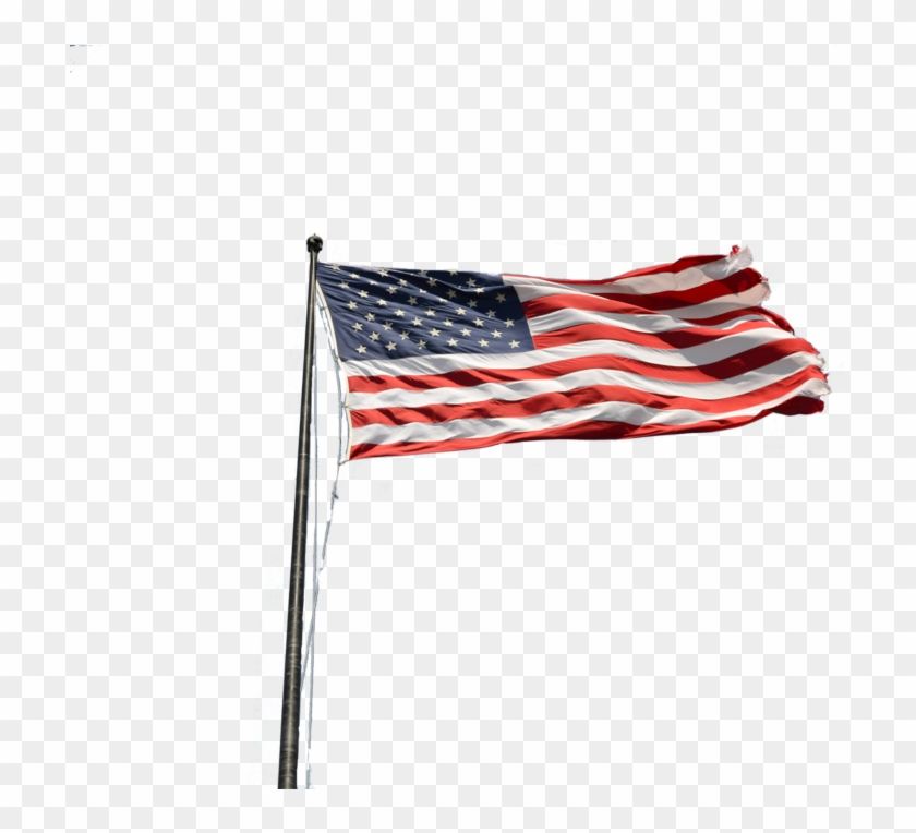 American Flag On Pole Png Picture Black And White Download.