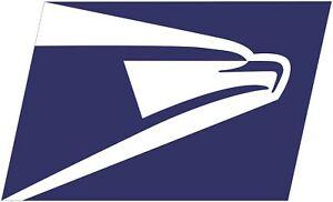 Details about US Post Office Mail Carrier USPS Logo Eagle Color Vinyl Decal.