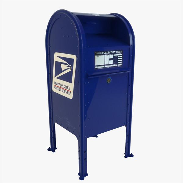Blue Mailbox Clipart.