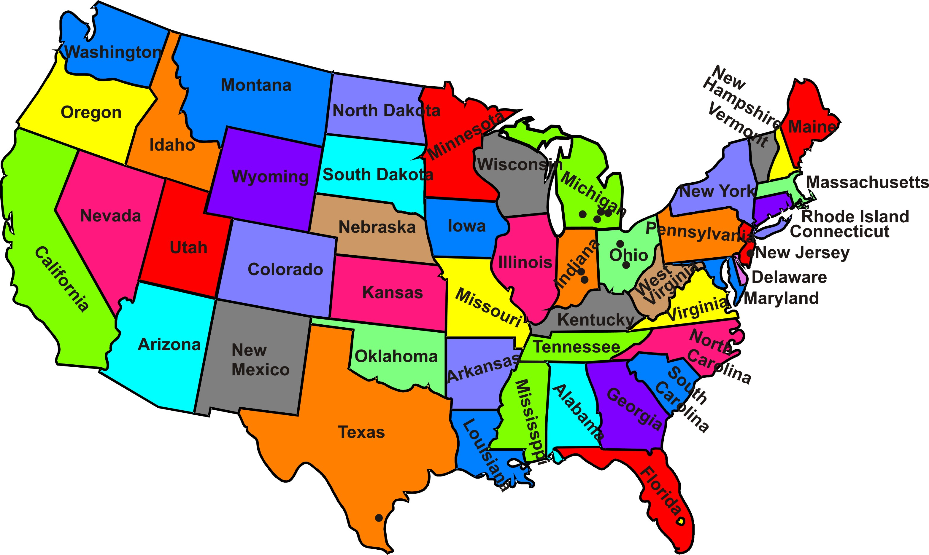 Us Map Clipart Clipground - Us map clip art free