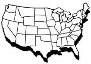 Us Map Clipart Black