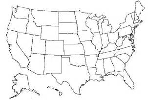 Unlabeled Us Map - Us map clipart