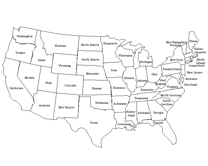 Clipart Us Map