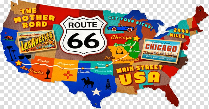 U.S. Route 66 in Missouri Road US Numbered Highways Map.