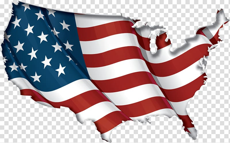 United States of America Flag of the United States Map.