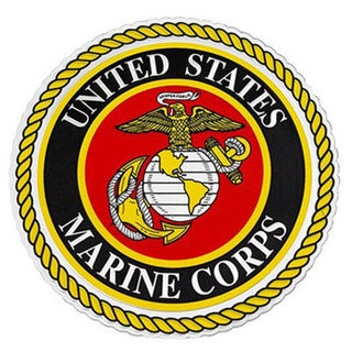 US Marine Corps Logo Car Decal.