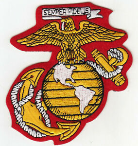 Details about US MARINE CORPS Logo Semper Fidelis Iron On Patch Marines  USMC Military Motto.