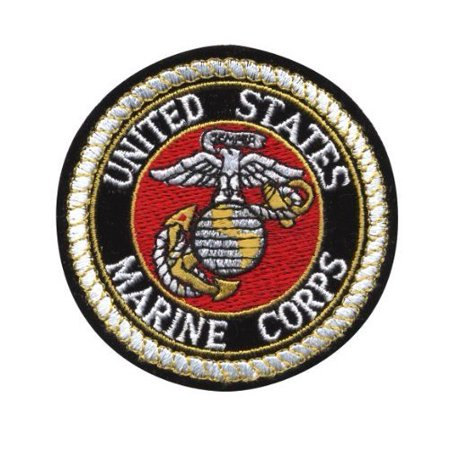 Deluxe US MARINE CORPS USMC Logo Sew On 3 Inch Patch.