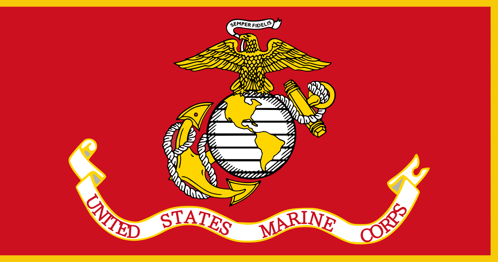 File:Flag of the United States Marine Corps (with fringe.