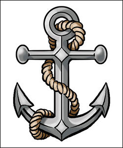 1954 Anchor free clipart.