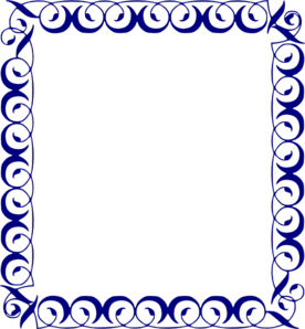 Navy Blue Frame Clipart.