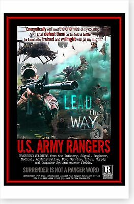 RANGERS LEAD THE Way Surrender Is Not A Ranger Word US Army.