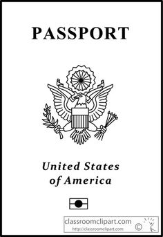 US Passport Outline Clipart » Clipart Station.