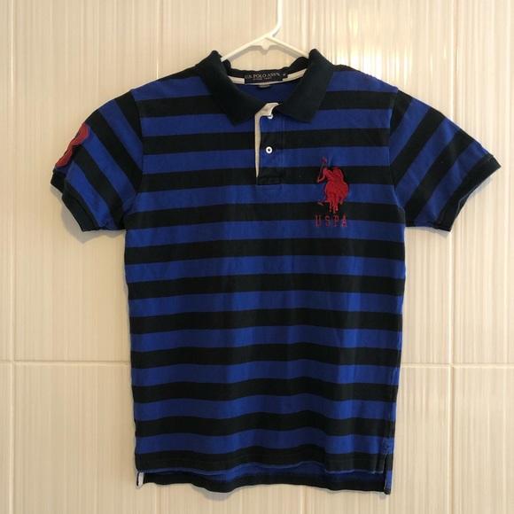 U.S. Polo Assn Logo Polo Shirt Navy Big Logo.