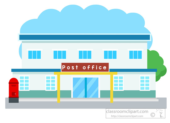 Clipart Of Post Office.