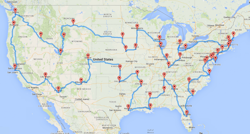 Computing the optimal road trip across the U.S..