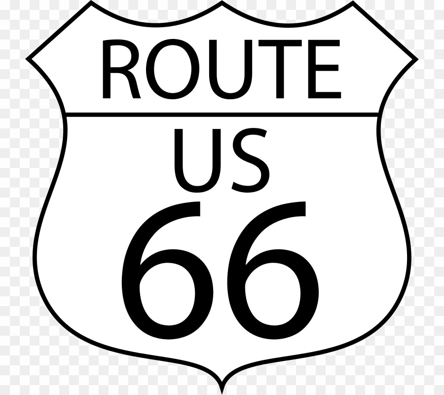 Route Us 66 PNG Route 66 Clipart download.