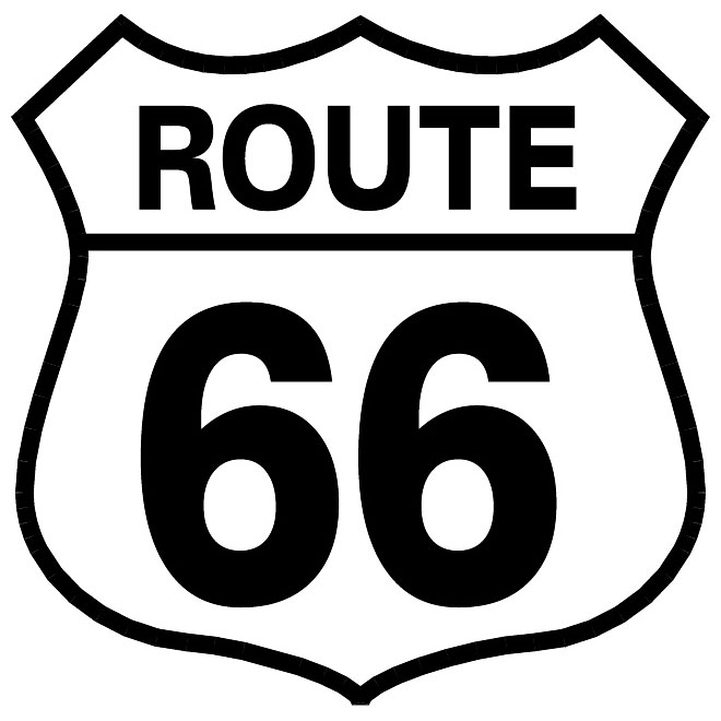 Route 66 vector sign.