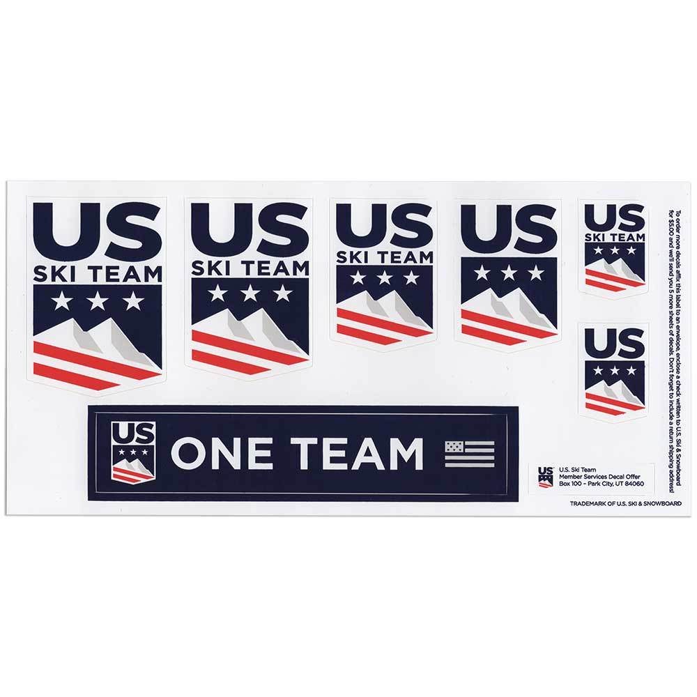 U.S. Ski Team Sticker Set of 7.