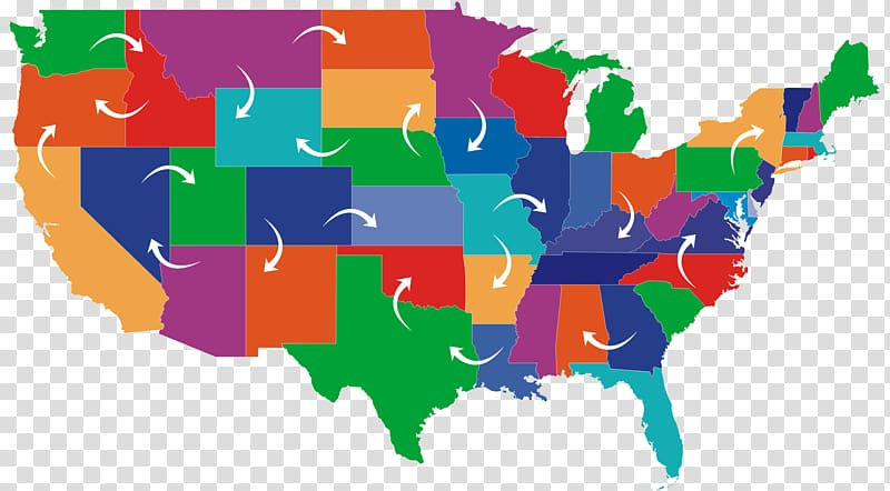 United States Blank map U.S. state , USA transparent.