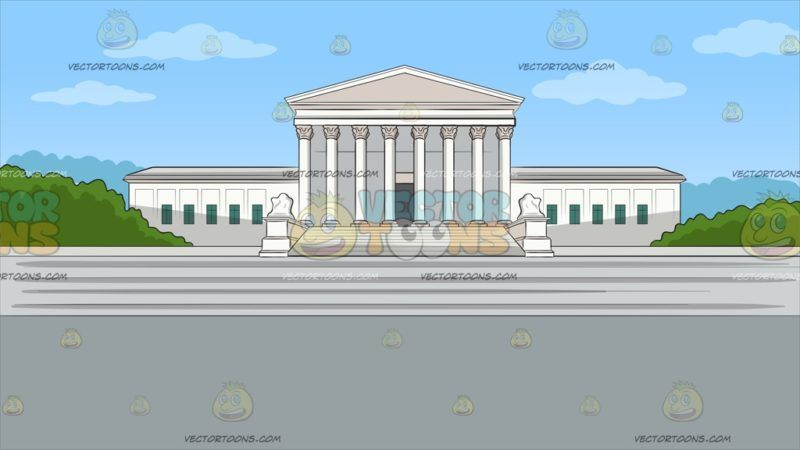 The Us Supreme Court Background: Facade of the United States.