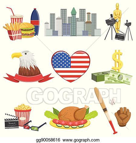 American Symbols Cliparts.