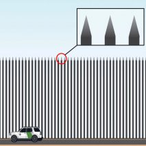 Trump\'s Steel Slat Barrier for Mexican border lampooned by.