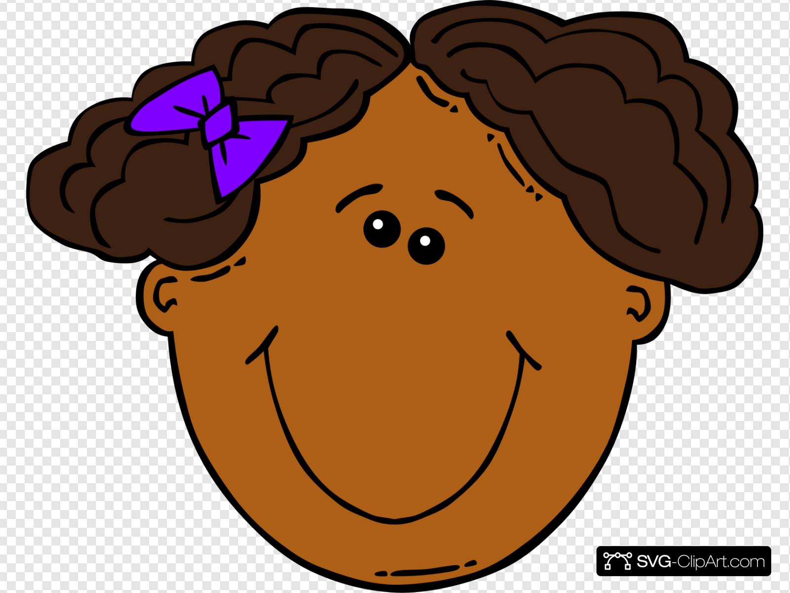 Cartoon Girl Face Clip art, Icon and SVG.
