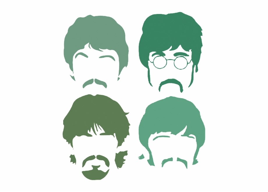 Let Us Know Beatles Faces Silhouette.